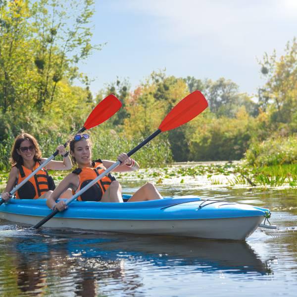 Kayak langs de Ourthe