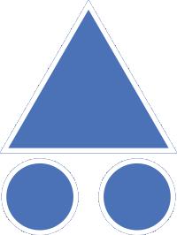 balise VTT bleue