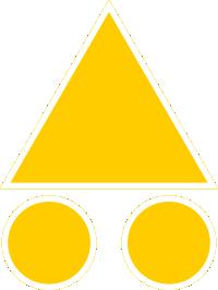 balise VTT jaune